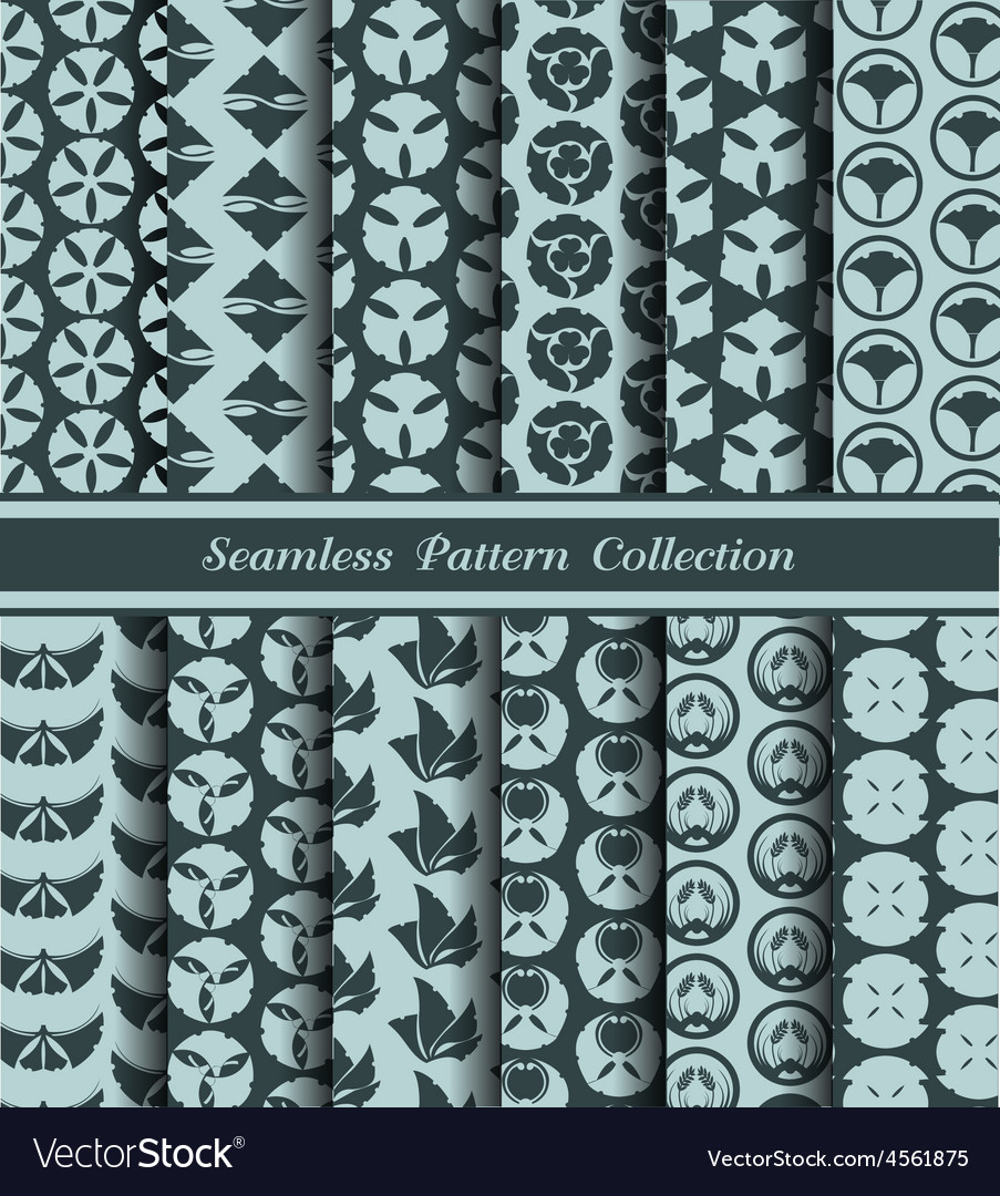 12 different japan traditional seamless patterns vector | Price: 1 Credit (USD $1)