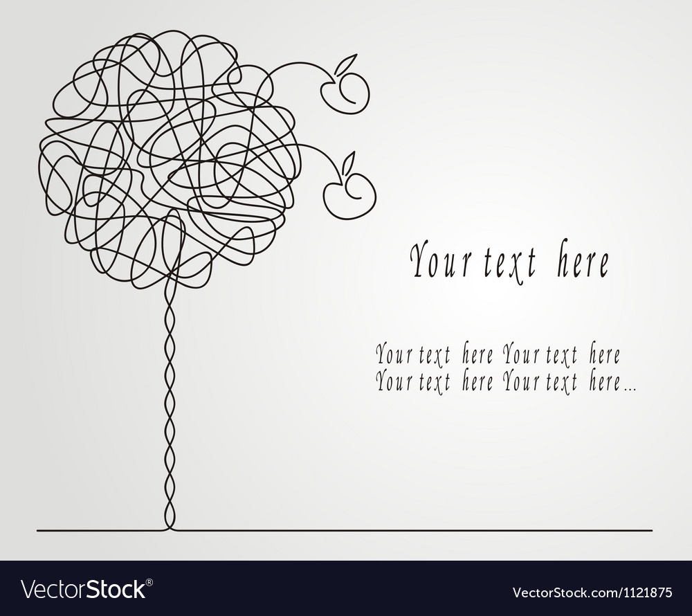Abstract apple-tree vector   Price: 1 Credit (USD $1)