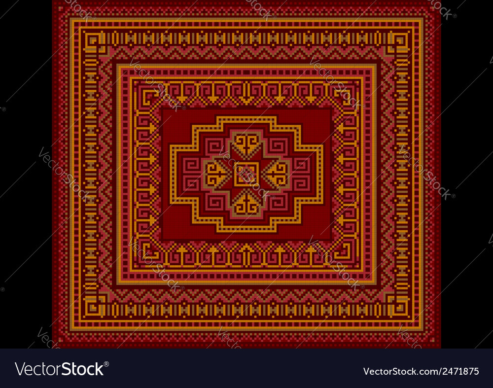 Bright carpet old style vector | Price: 1 Credit (USD $1)