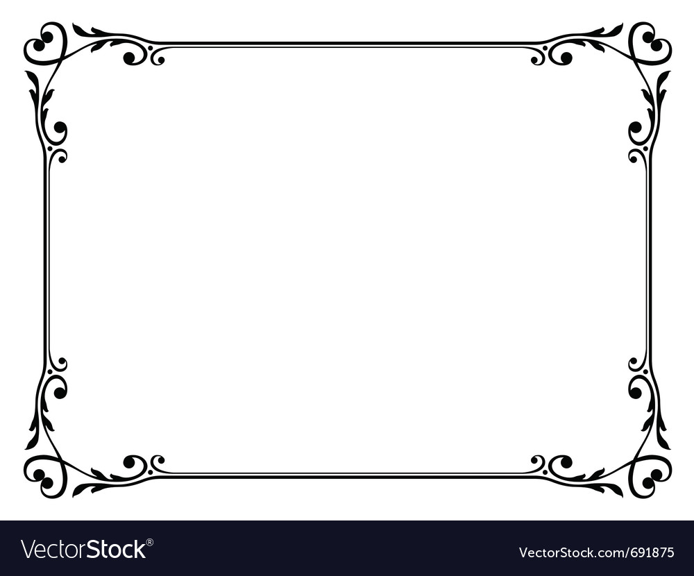 Calligraphy ornamental decorative frame with heart vector | Price: 1 Credit (USD $1)