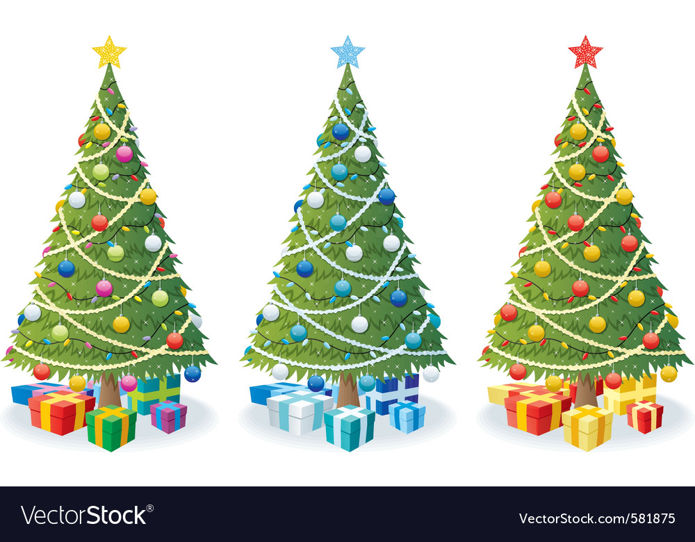 Christmas tree and gifts vector | Price: 1 Credit (USD $1)