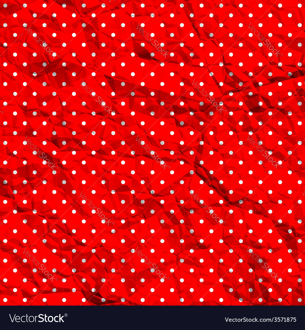 Crumpled polka dot pattern vector | Price: 1 Credit (USD $1)