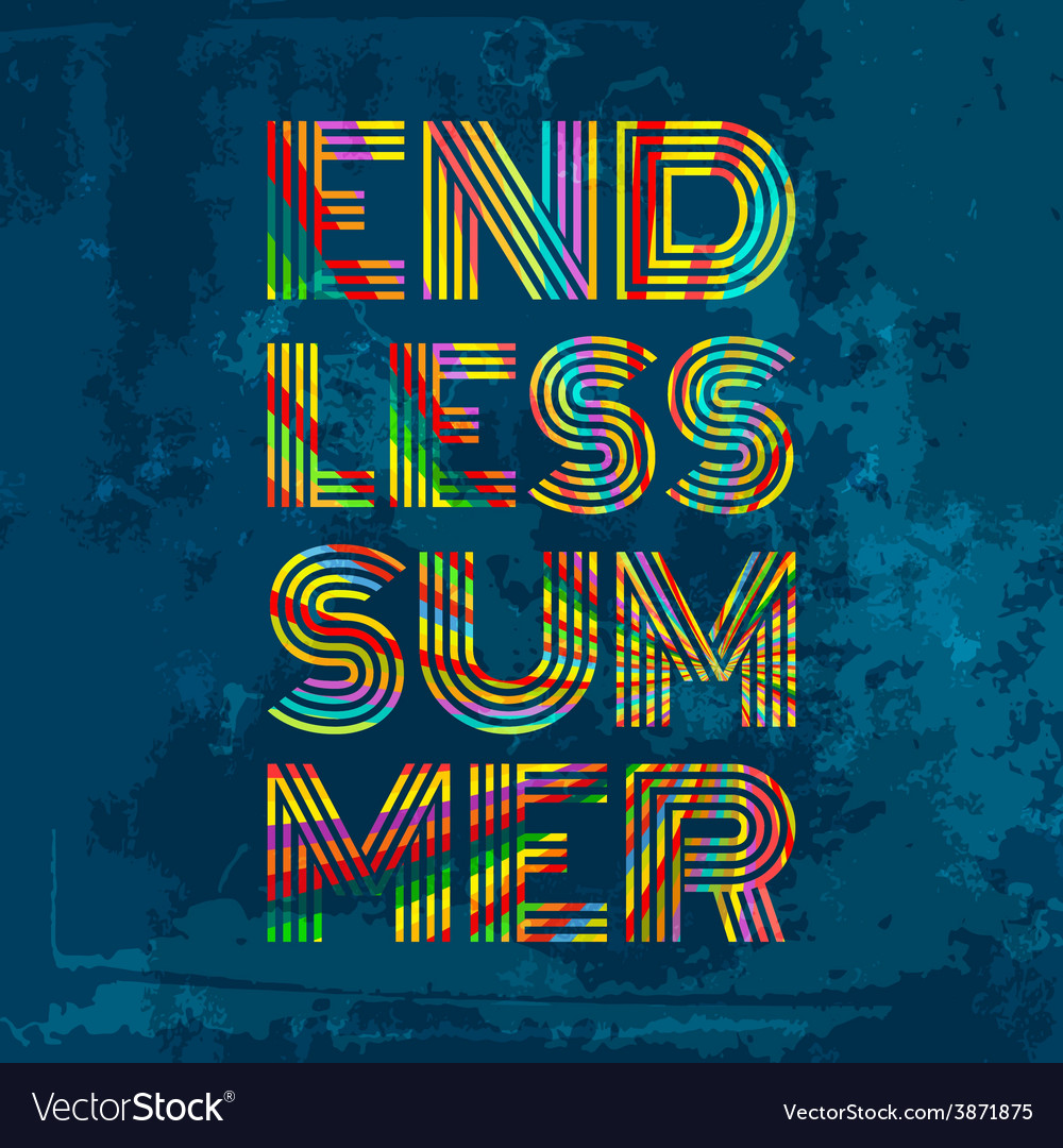 Endless summer artwork for wear in custom colors vector | Price: 1 Credit (USD $1)