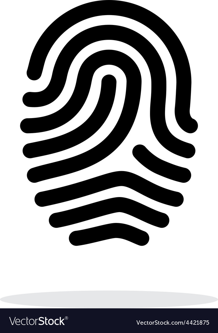 Fingerprint loop type icon on white background vector | Price: 1 Credit (USD $1)