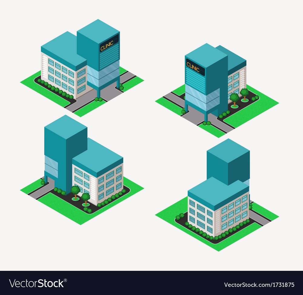 Isometric clinic vector | Price: 1 Credit (USD $1)