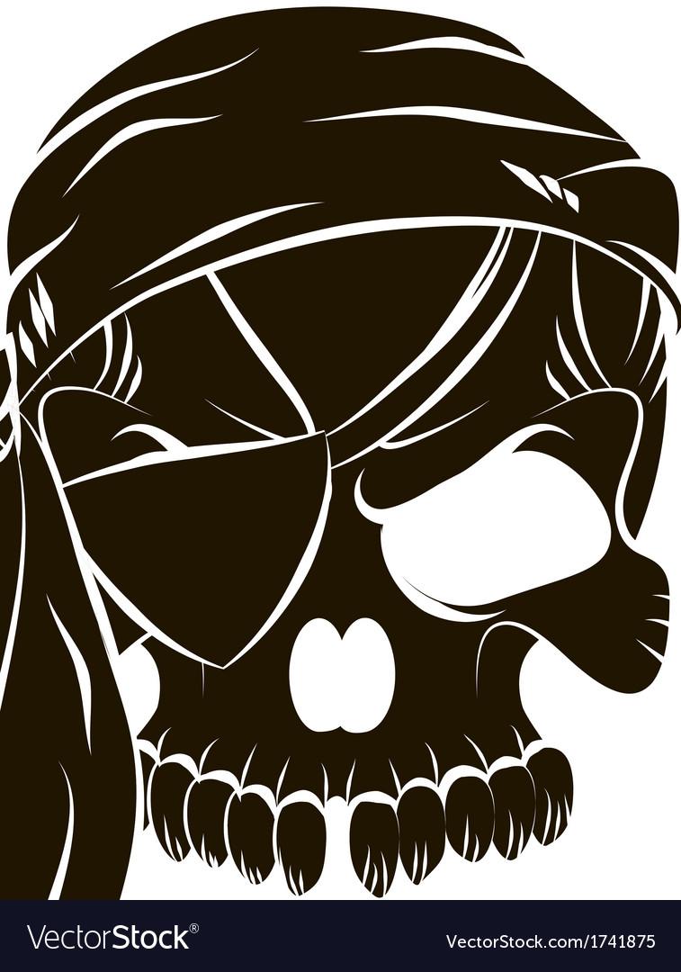 Pirate skull vector   Price: 1 Credit (USD $1)