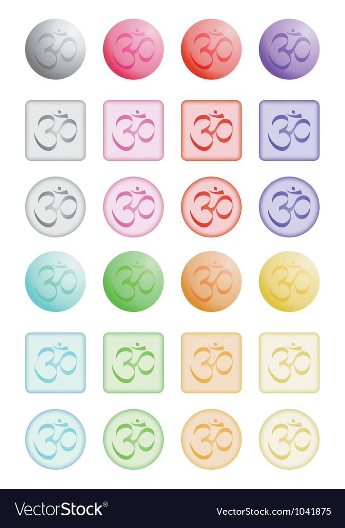 Push buttons with sign om vector | Price: 1 Credit (USD $1)
