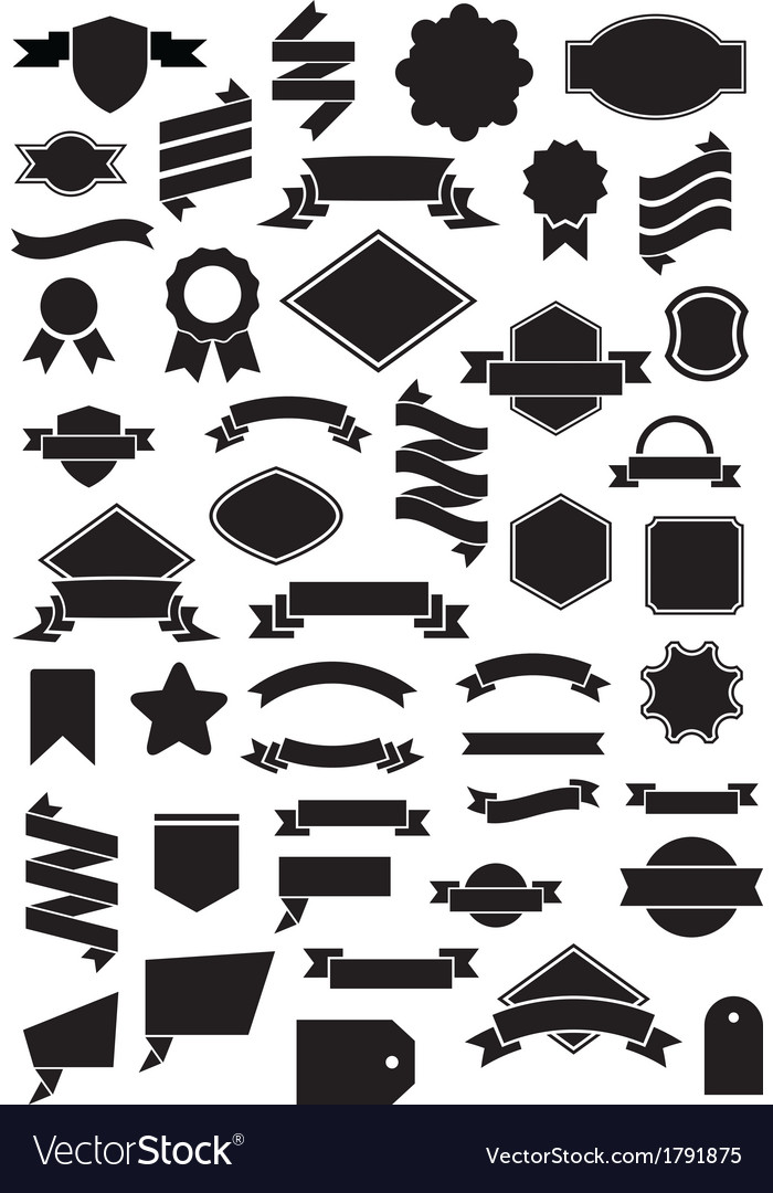 Ribbon and label vector | Price: 1 Credit (USD $1)
