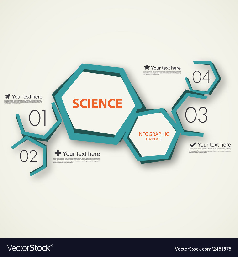Science infographic template vector | Price: 1 Credit (USD $1)