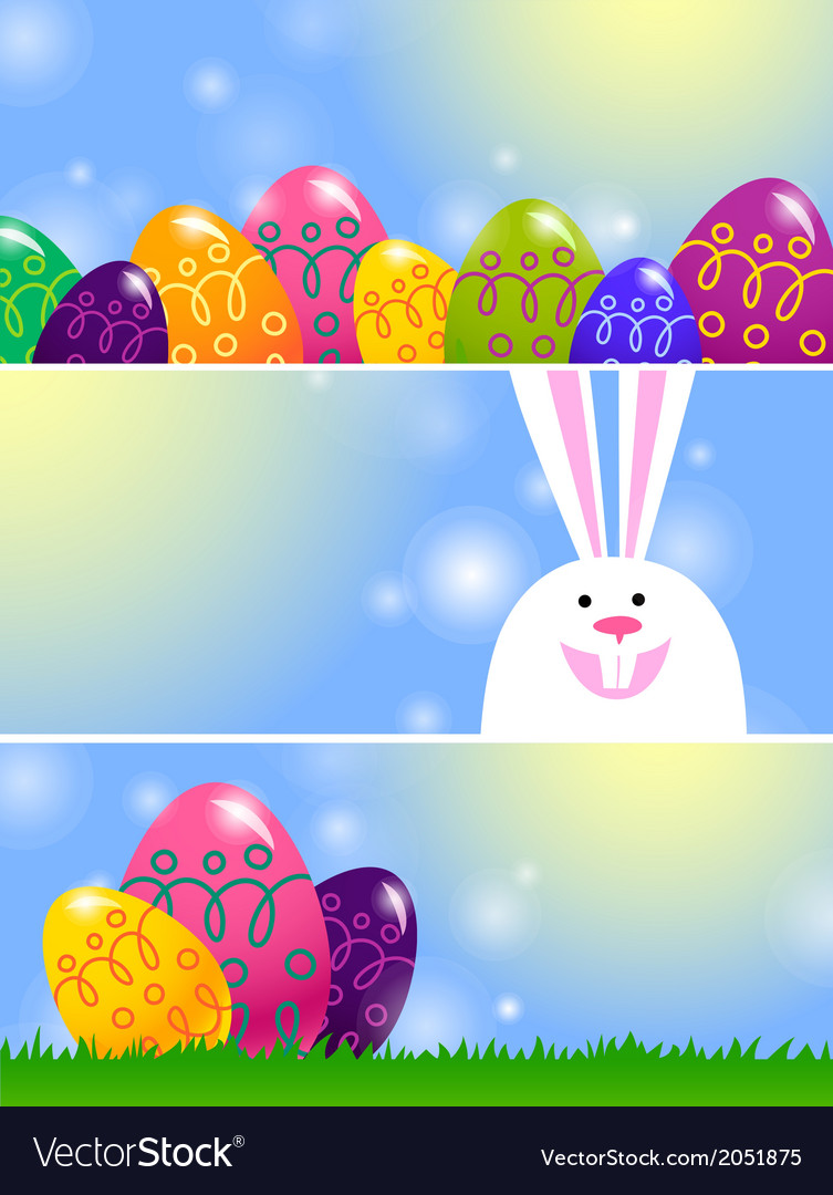 Set of easter banners vector | Price: 1 Credit (USD $1)