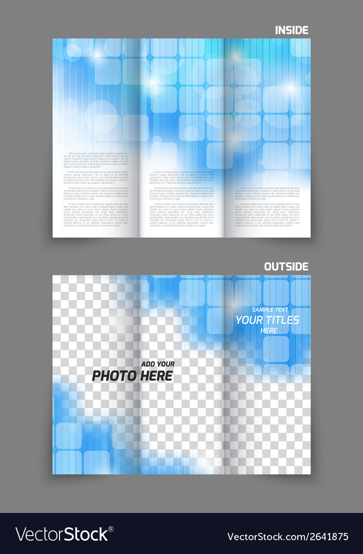 Technology tri fold brochure vector | Price: 1 Credit (USD $1)