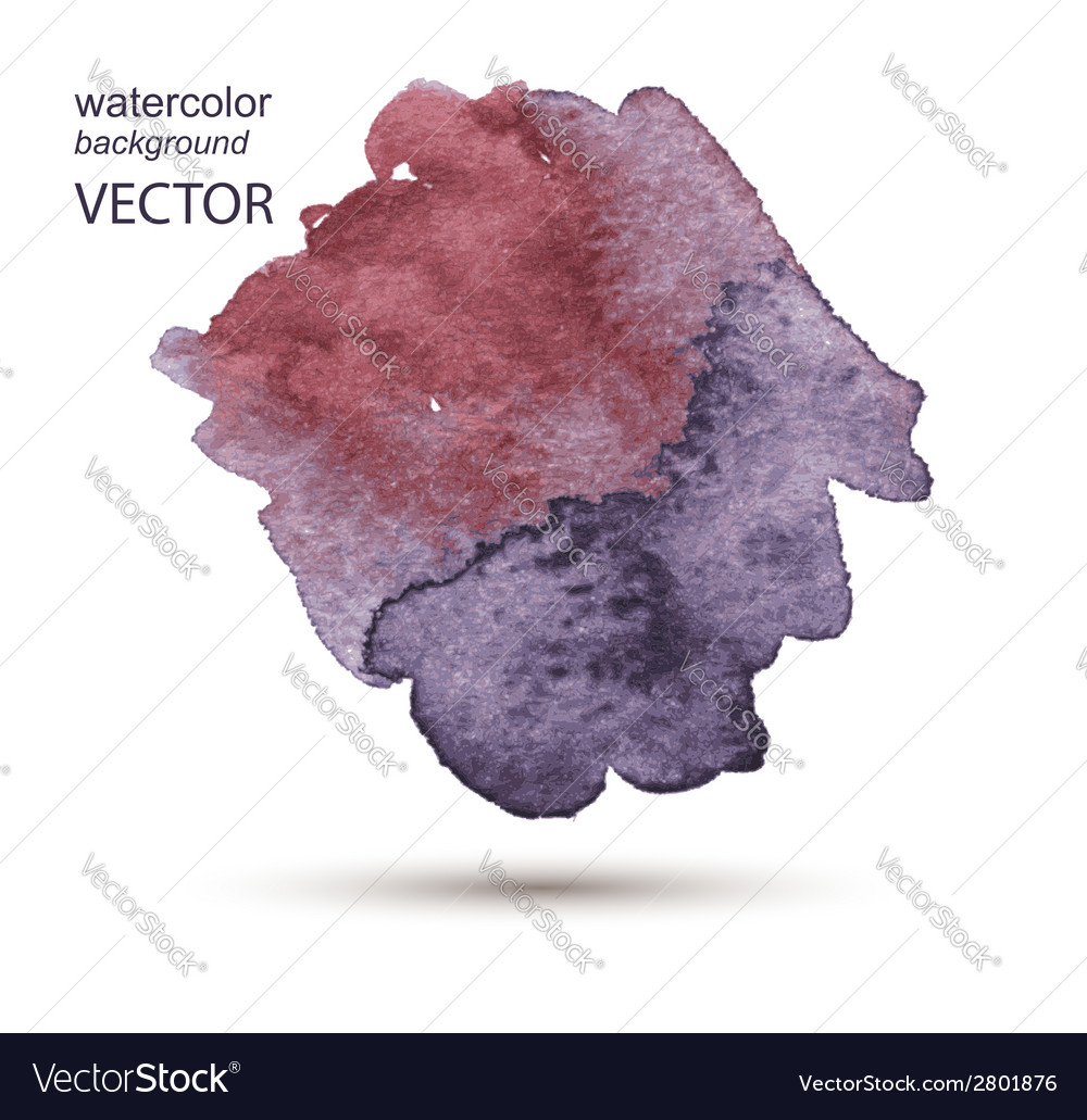 Abstract watercolor hand painted background vector | Price: 1 Credit (USD $1)