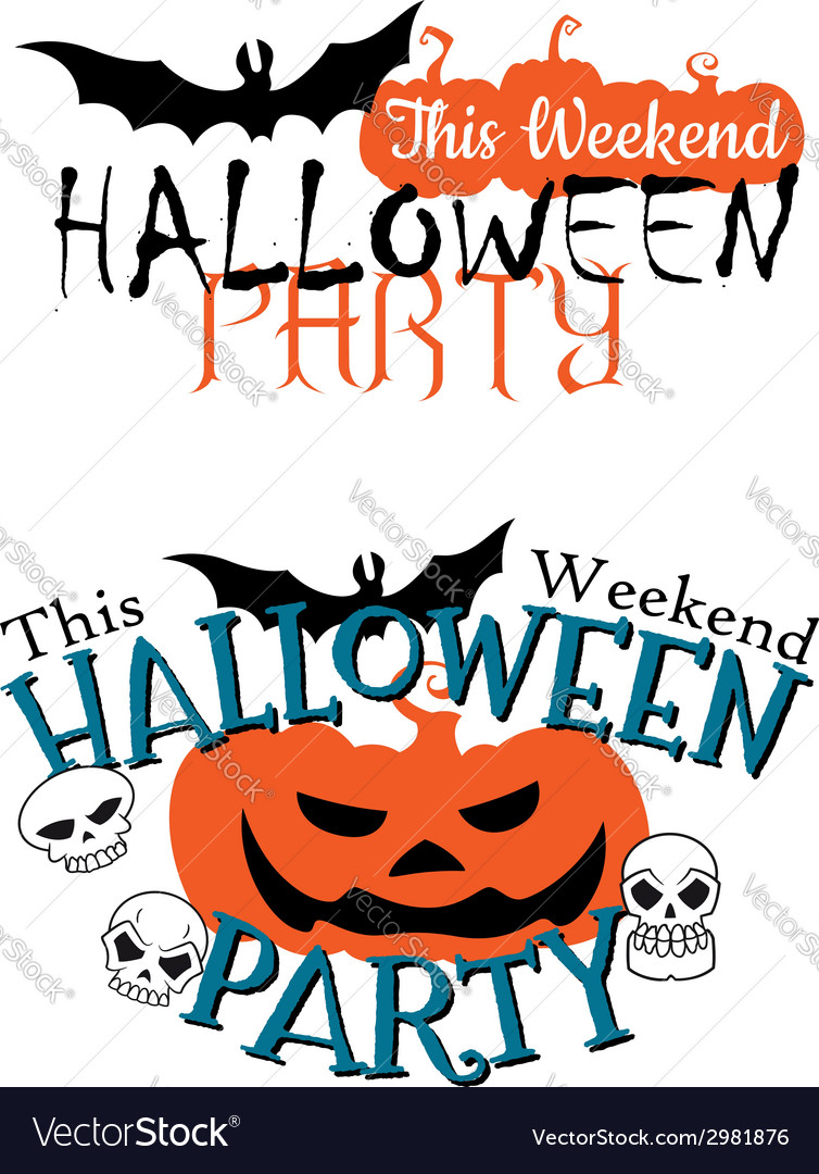 Amazing happy halloween party invitation vector | Price: 1 Credit (USD $1)