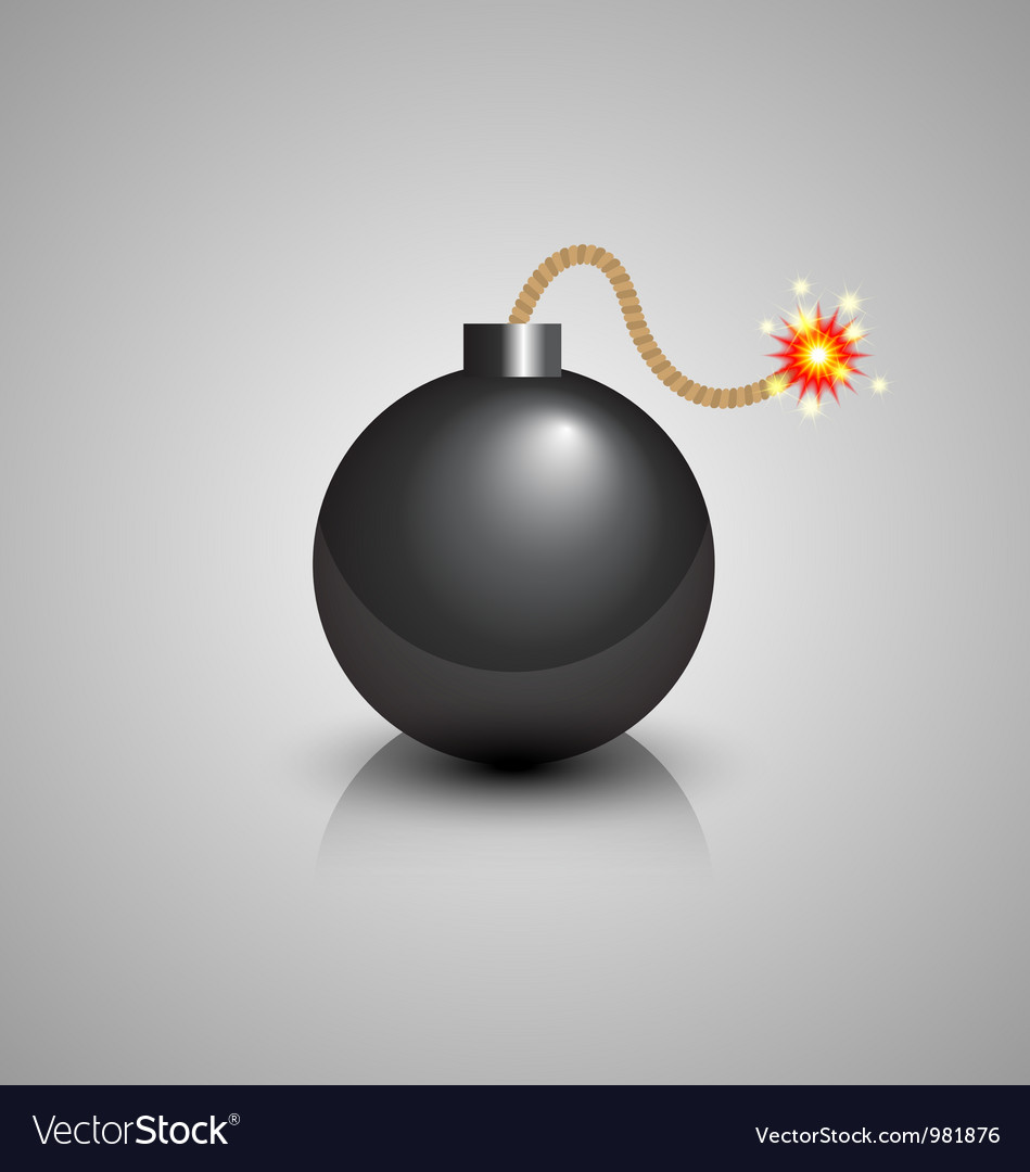 Black bomb icon vector | Price: 3 Credit (USD $3)