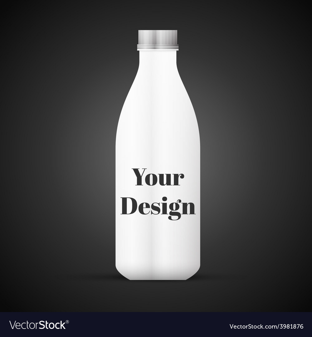 Blank milk or juice pack isolated on black vector | Price: 1 Credit (USD $1)