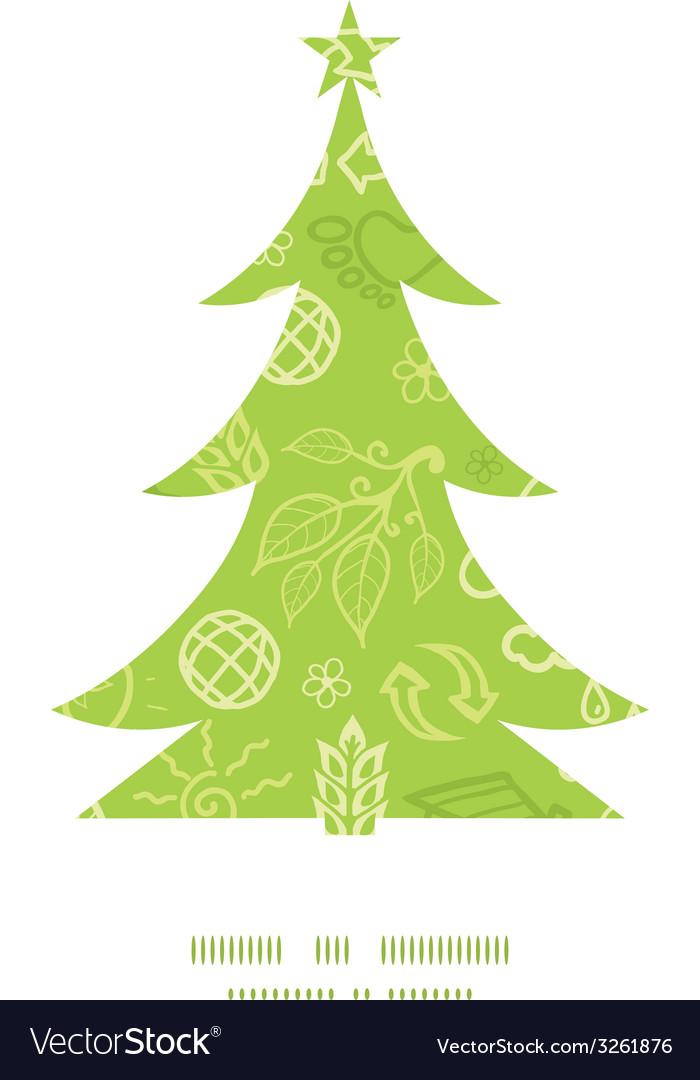 Environmental christmas tree silhouette pattern vector | Price: 1 Credit (USD $1)