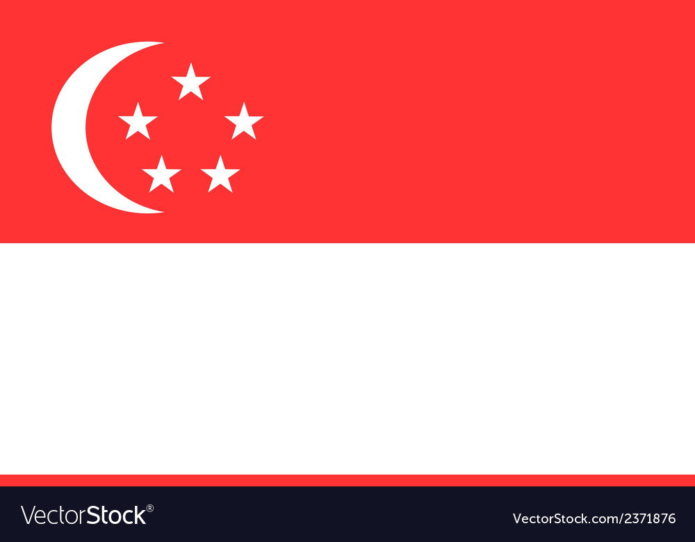 Flag of singapore vector | Price: 1 Credit (USD $1)