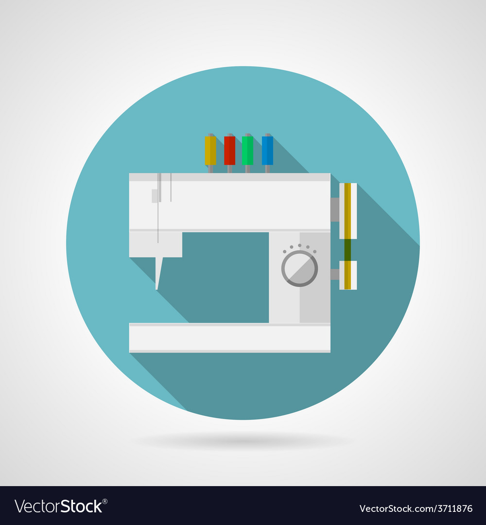 Flat icon for sewing machine vector | Price: 1 Credit (USD $1)