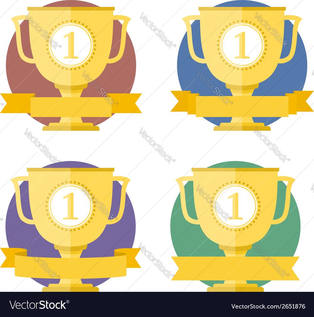 Golden cups vector | Price: 1 Credit (USD $1)