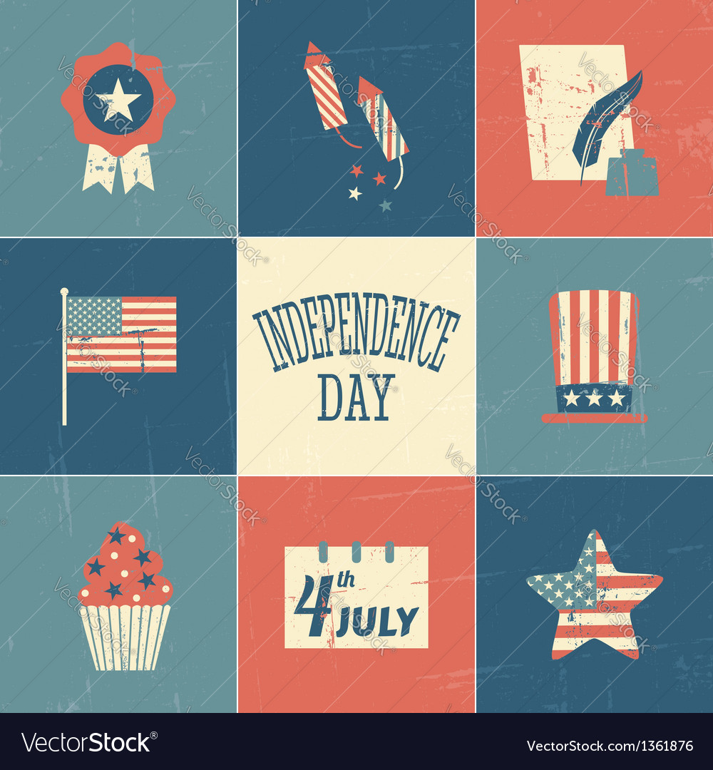 Independence day cards collection vector | Price: 3 Credit (USD $3)