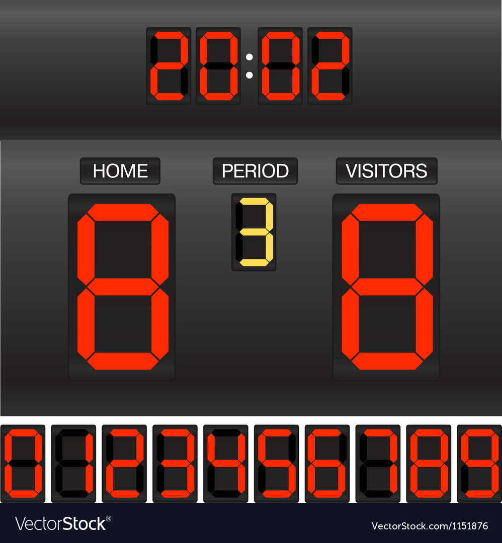 Match score board vector | Price: 1 Credit (USD $1)