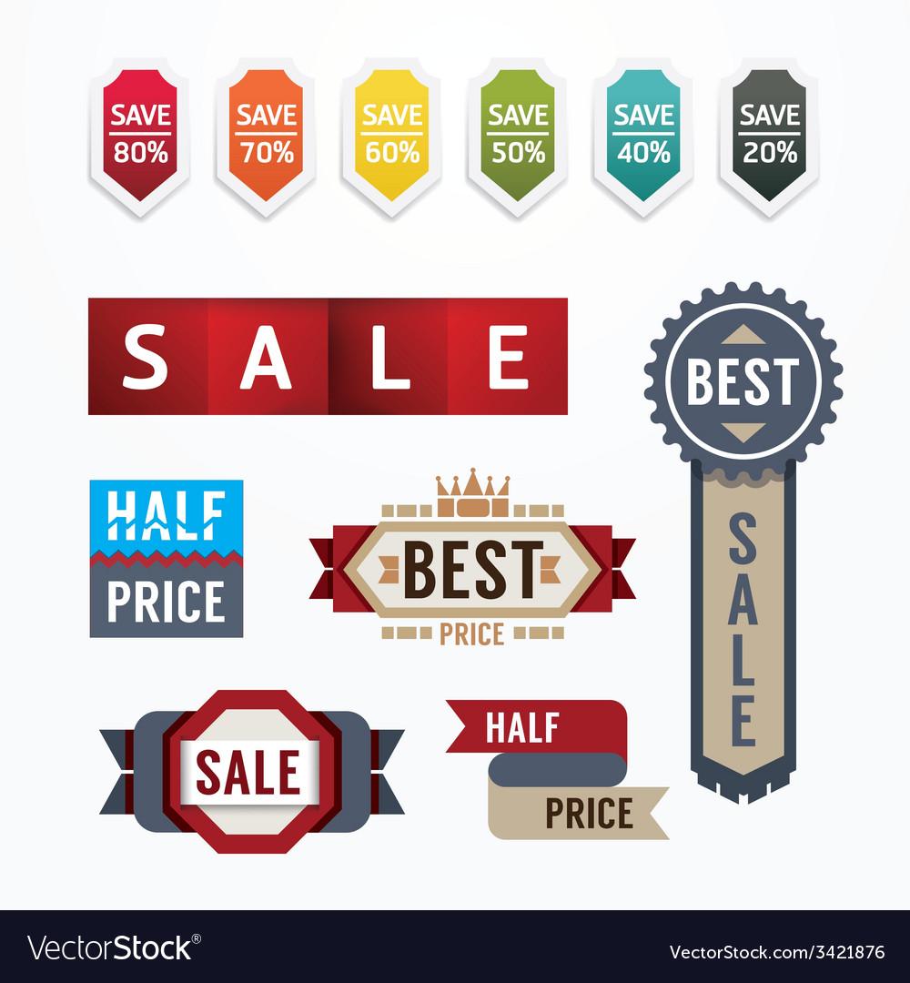 Sale tags banners set design concept vector