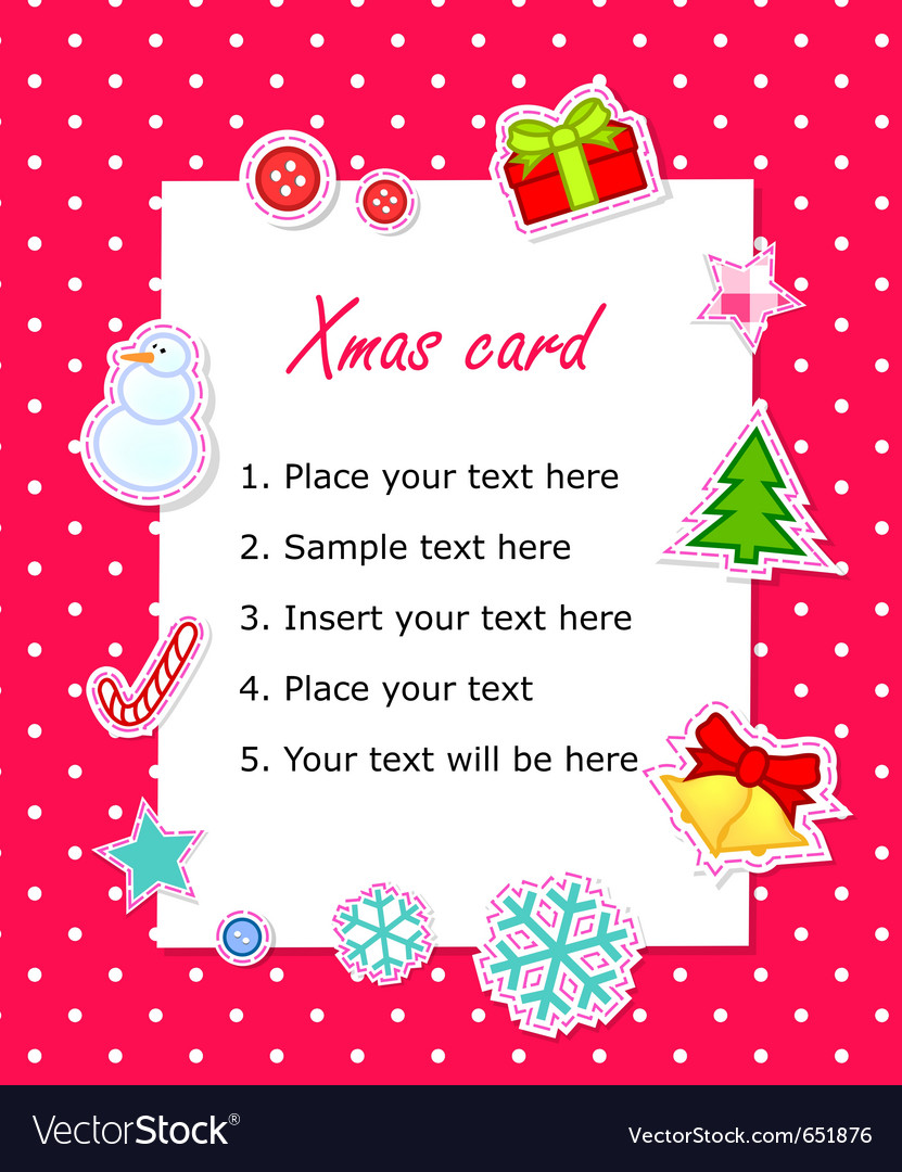 Scrapbook christmas card vector | Price: 1 Credit (USD $1)