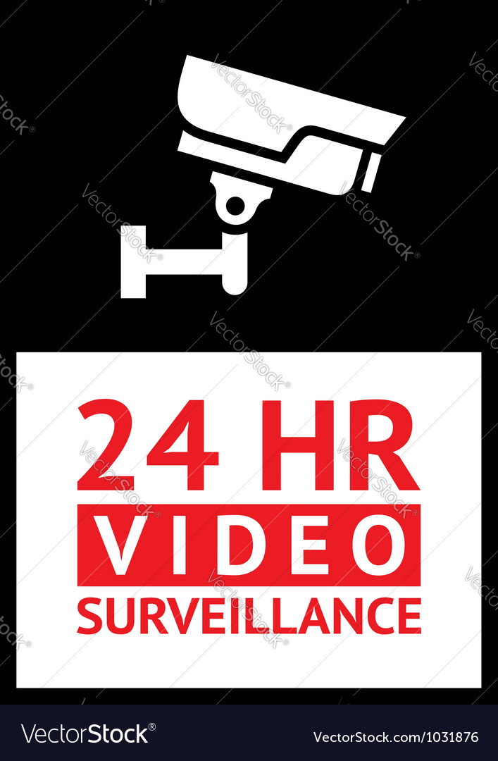 Sticker camera surveillance vector | Price: 1 Credit (USD $1)