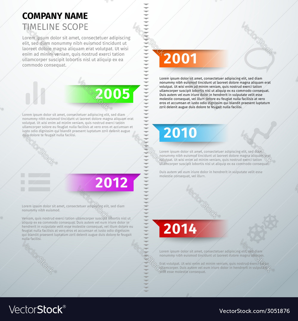 Timeline text visual infographics template vector | Price: 1 Credit (USD $1)