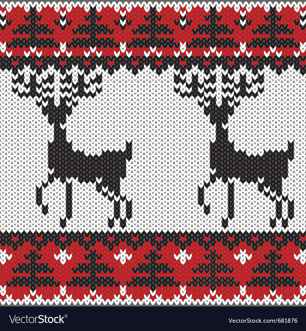 Winter knitted nordic pattern vector | Price: 1 Credit (USD $1)