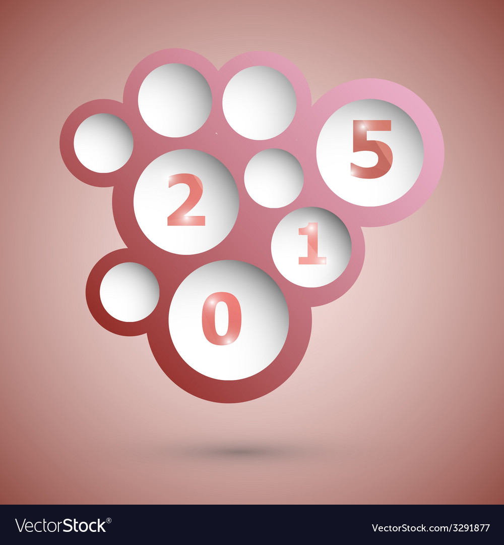 2015 with abstract red speech bubble background vector   Price: 1 Credit (USD $1)