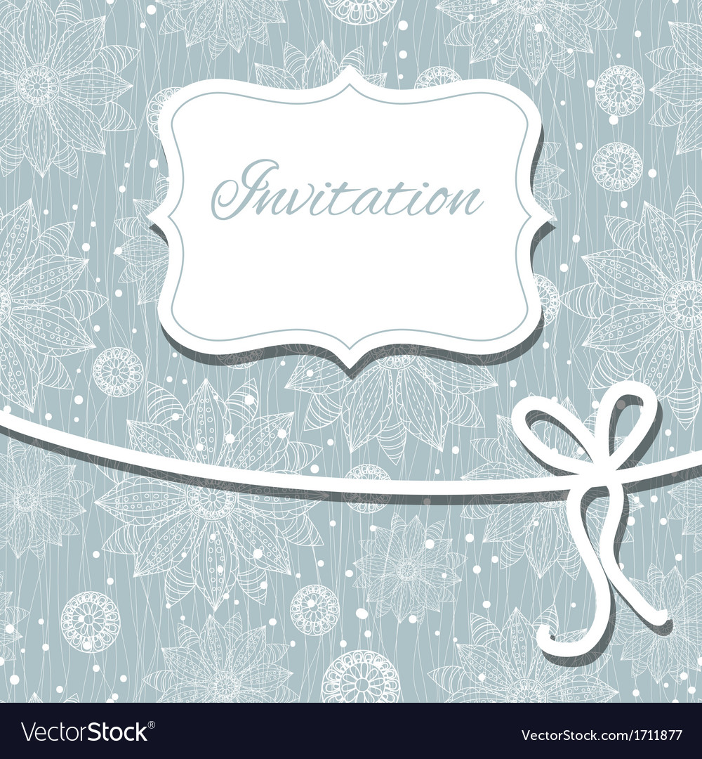 Beautiful floral invitation card eps10 vector | Price: 1 Credit (USD $1)