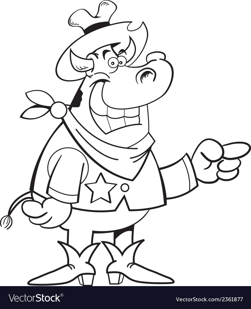 Cartoon cowboy cow vector | Price: 1 Credit (USD $1)