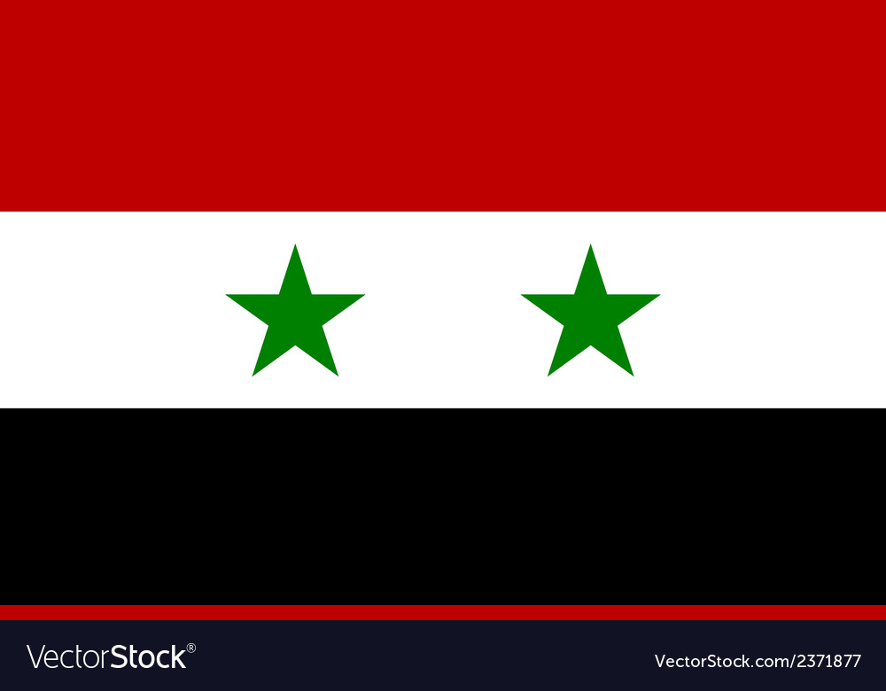 Flag of syria vector | Price: 1 Credit (USD $1)