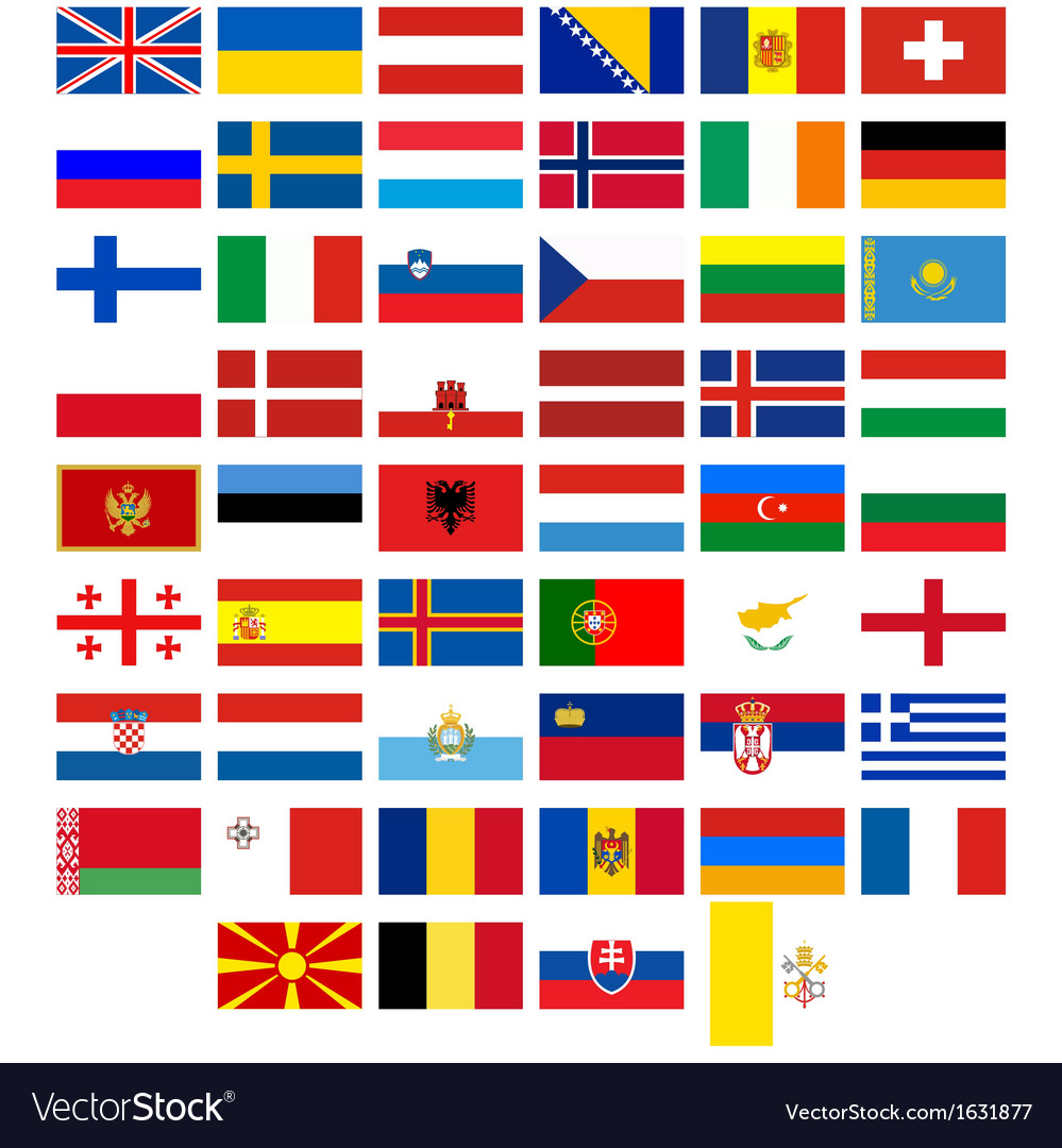 Flags of the countries of europe vector | Price: 1 Credit (USD $1)