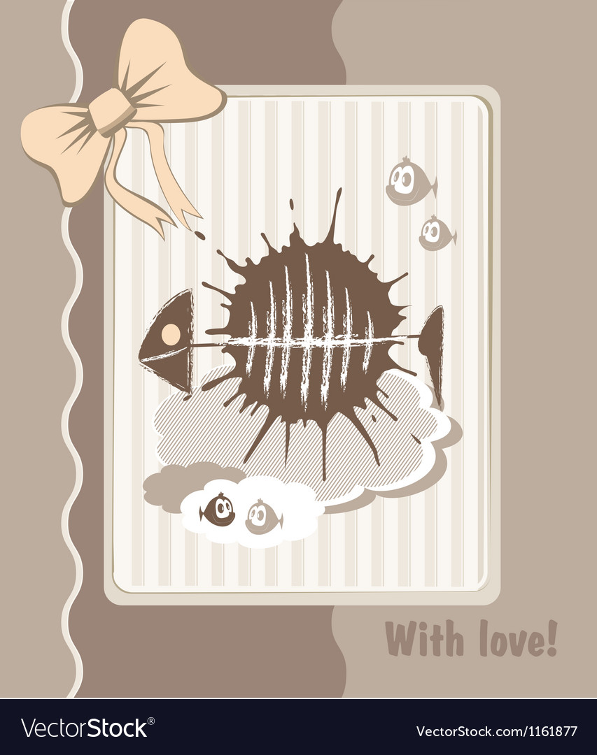 Greeting fish vector | Price: 1 Credit (USD $1)