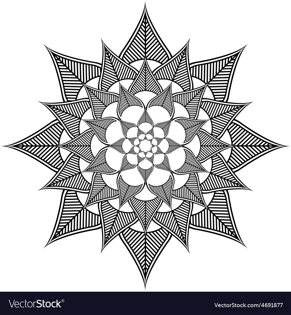 Indian culture inspired leafy flower shape vector | Price: 1 Credit (USD $1)