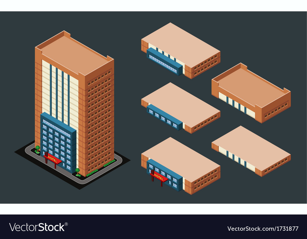 Isometric hotel vector | Price: 1 Credit (USD $1)