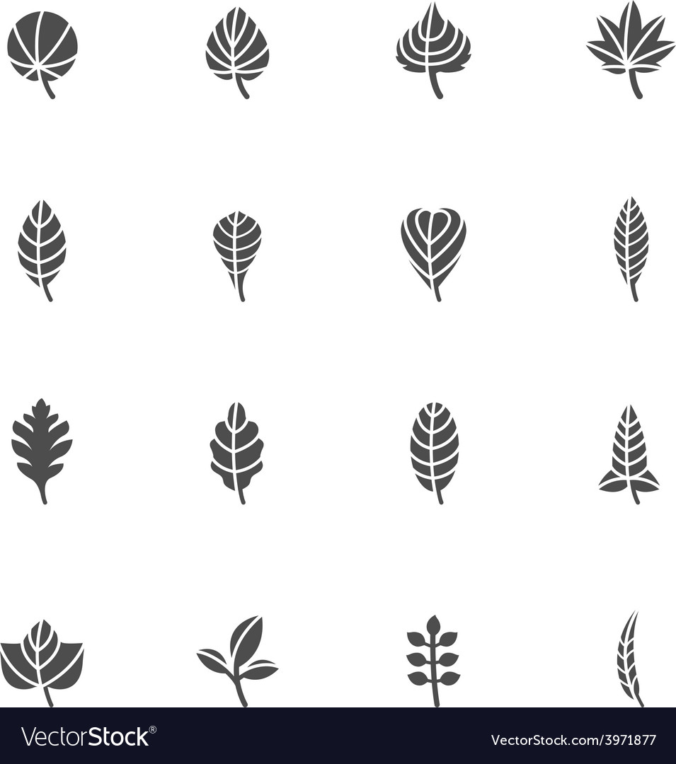 Leafs icons for pattern vector | Price: 1 Credit (USD $1)