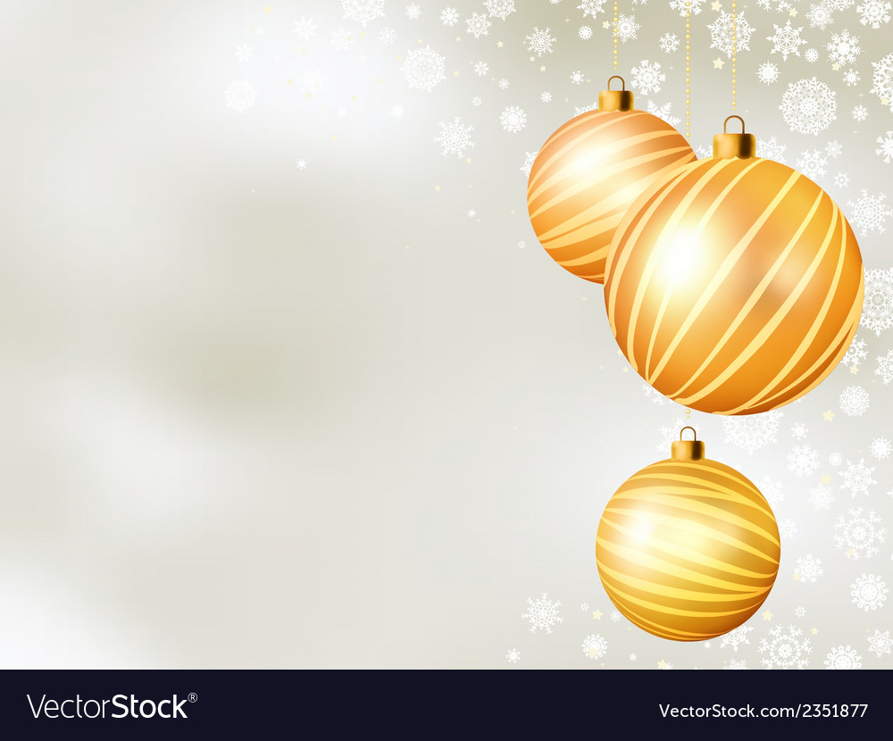 Light christmas backdrop with five balls eps 8 vector | Price: 1 Credit (USD $1)