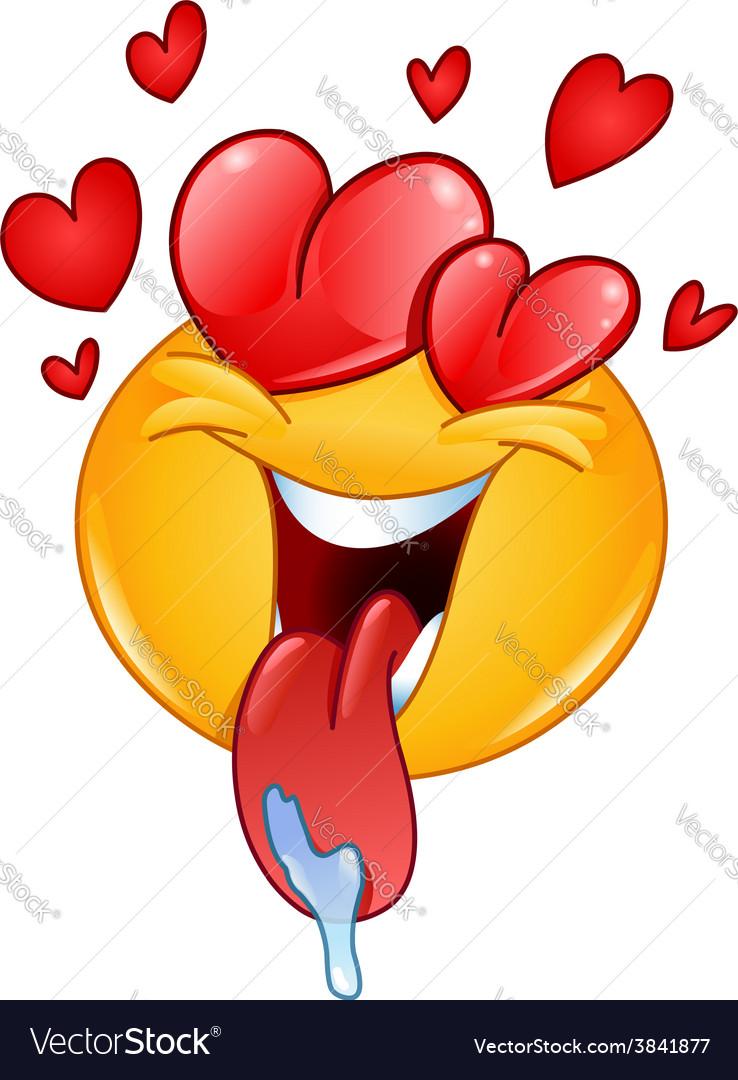 Love emoticon vector   Price: 1 Credit (USD $1)