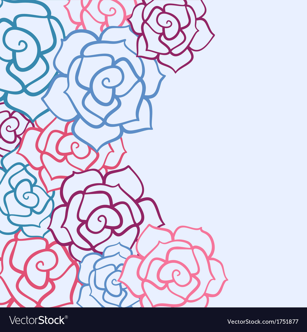 Rose flower invitation card vector   Price: 1 Credit (USD $1)