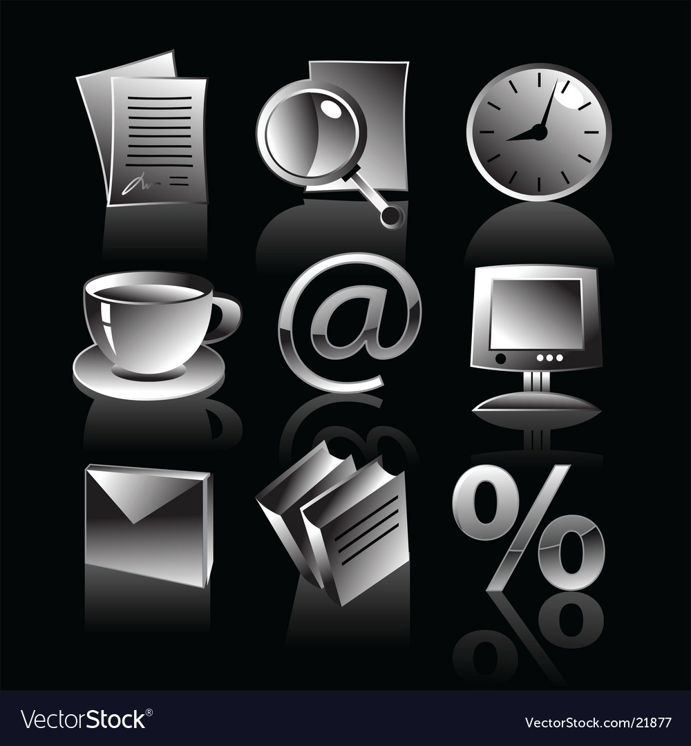 Set of business web icons vector | Price: 1 Credit (USD $1)