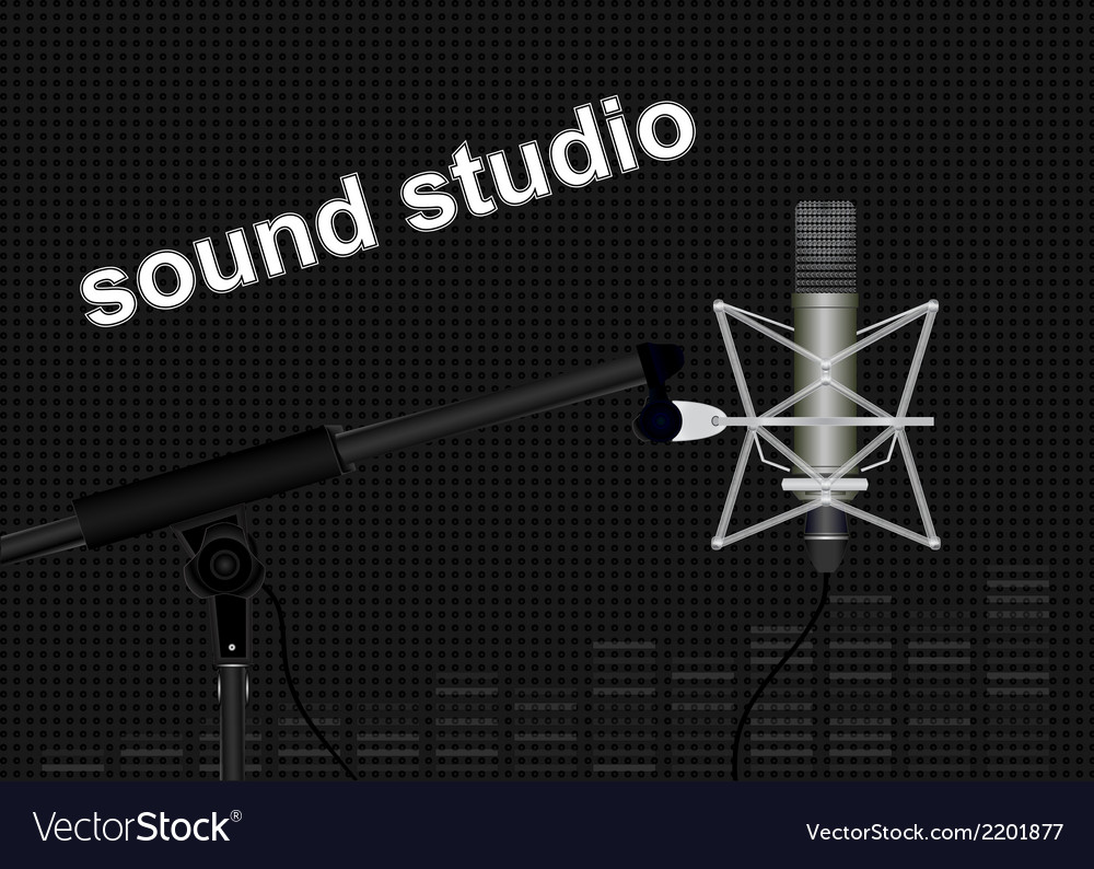 Sound studio vector | Price: 1 Credit (USD $1)
