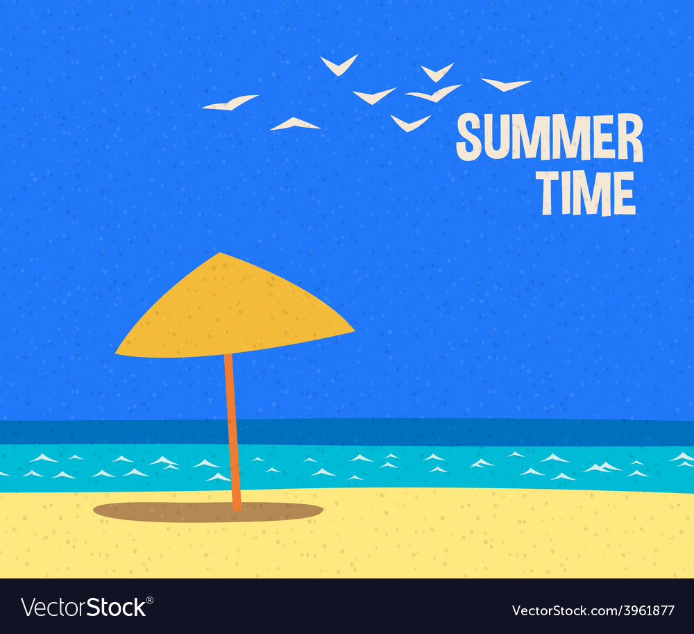 Summertime holidays card vector | Price: 1 Credit (USD $1)