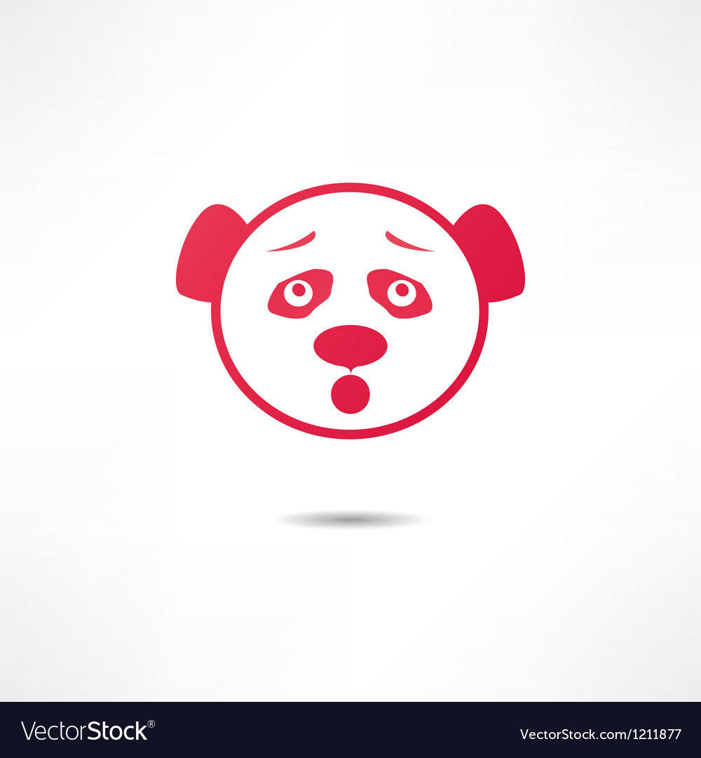 Surprised panda vector | Price: 1 Credit (USD $1)