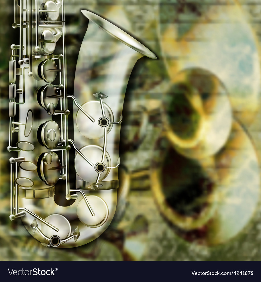 Abstract grunge background with saxophone and vector | Price: 3 Credit (USD $3)