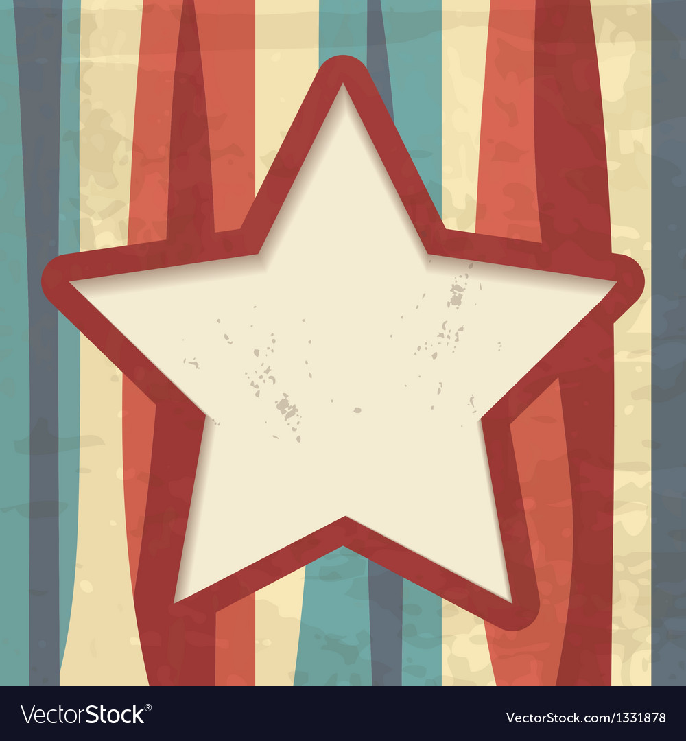 Background with stripes and a star frame vector | Price: 1 Credit (USD $1)