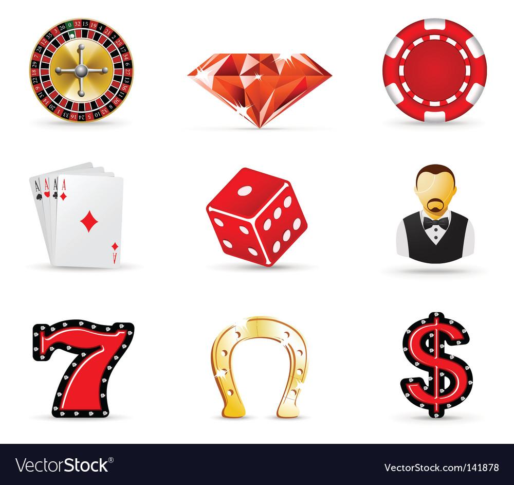 Casino icons vector | Price: 1 Credit (USD $1)