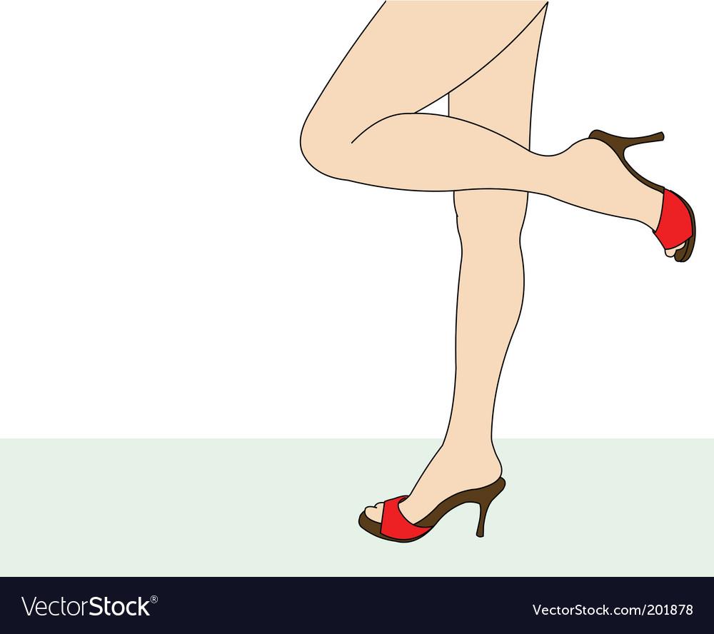 Female feet vector | Price: 1 Credit (USD $1)